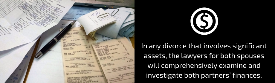 inspecting finances for spousal support